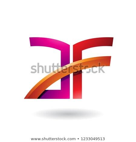 Rood · oranje · brief · stick · vector · illustratie - stockfoto © cidepix