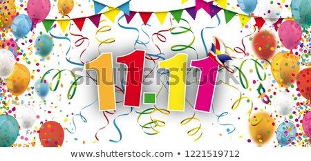 Fasching Balloons Confetti Colored 11 November Stock photo © limbi007
