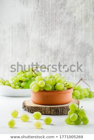 Stock photo: Fresh grape in plate