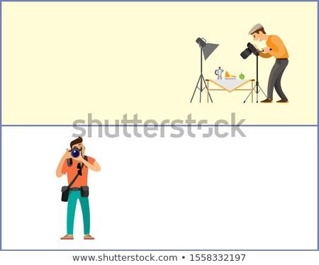 Ancora vita fotografo giornalista set online Foto d'archivio © robuart