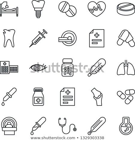heart beat sign and pill capsule vector illustration isolated on white background stock photo © kyryloff