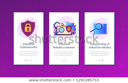 Industrial cybersecurity app interface template. Stock photo © RAStudio