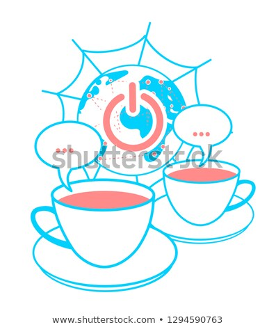 concept of global communication   two mugs  Stock photo © Olena