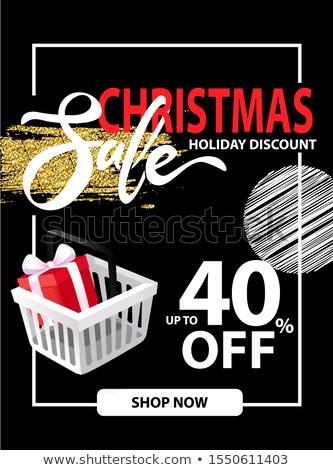 Vásár karácsony ünnep prospektus információ felfelé Stock fotó © robuart