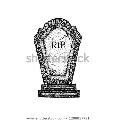 古代 墓石 Tシャツ デザイン 入れ墨 手描き ストックフォト © Anna_leni