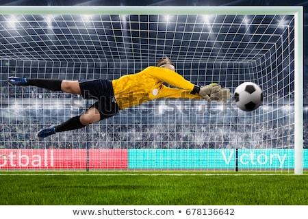 futball · lány · kapus · futballpálya · arc · sport - stock fotó © matimix