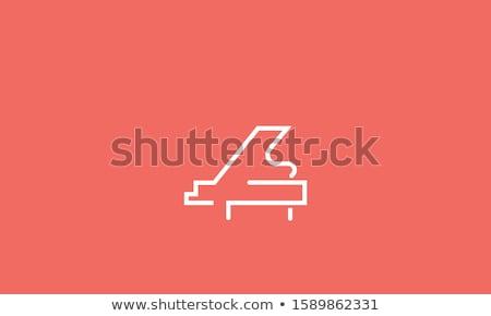 Modèle piano à queue illustration musique clavier fond Photo stock © colematt