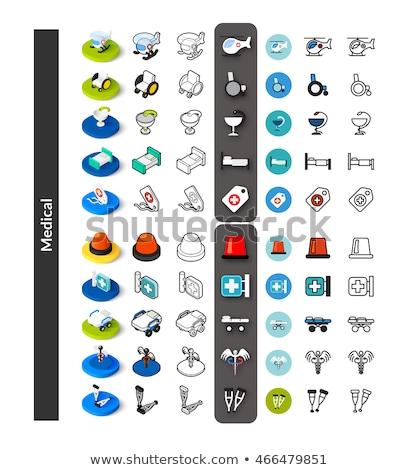 Stockfoto: Chemische · kleur · schets · isometrische · iconen · eps