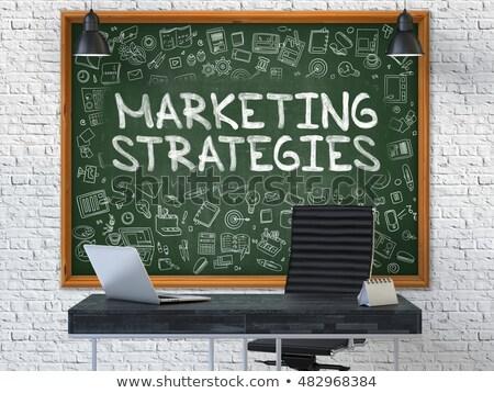 developing customer loyalty drawn on white wall 3d stock photo © tashatuvango