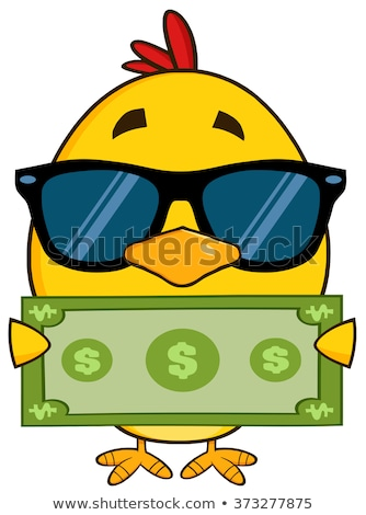 Geel chick zonnebril Stockfoto © hittoon