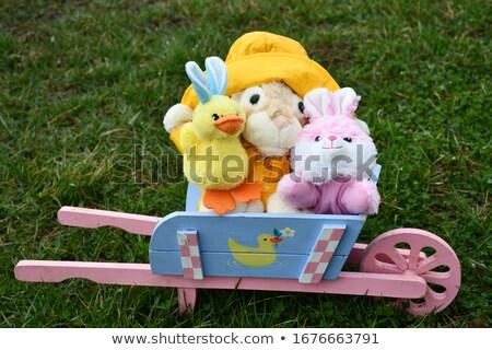 イースターバニー 手押し車 画像 ウサギ 芸術 卵 ストックフォト © clairev