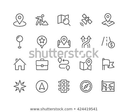 Harita pin hat dizayn gps ikon Stok fotoğraf © kali