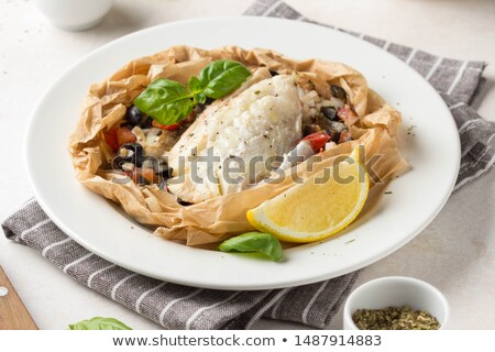Baked dorada with fresh vegetables Stock photo © Alex9500