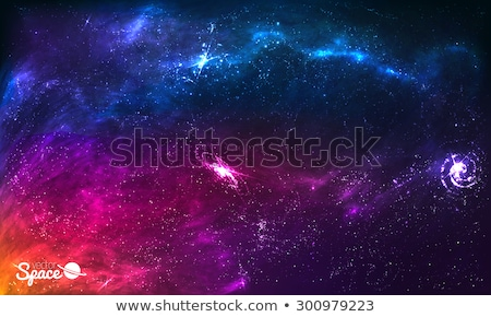 Background of colorful galaxy in the universe Stock photo © alphaspirit