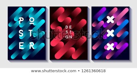 Modern renkli poster dalga sıvı Stok fotoğraf © MarySan