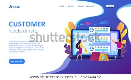 Vendeur atterrissage page personnes clientèle Photo stock © RAStudio