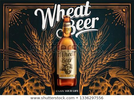 hops malt and beer illustration stock photo © conceptcafe