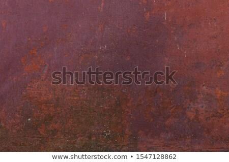 közelkép · rozsda · textúra · fém · tányér · építkezés - stock fotó © boggy