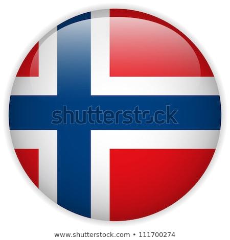 Sticker design for Norway flag Stock photo © colematt