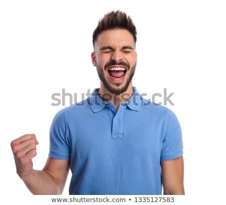 Homem luz azul sentimento animado Foto stock © feedough