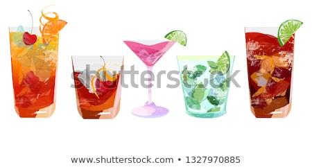 Seks strand cocktail glas donkere exemplaar ruimte Stockfoto © grafvision