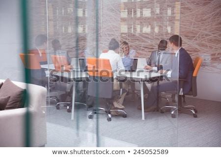 スピーカー · 話し · ビジネス · 会議 · 話 · 営業会議 - ストックフォト © diego_cervo