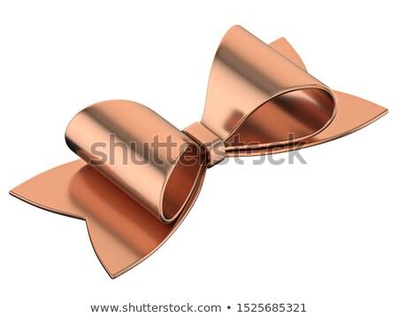 Bronz szalag íj 3D renderelt kép illusztráció Stock fotó © djmilic