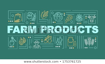 Dairy products concept banner header. Stock photo © RAStudio