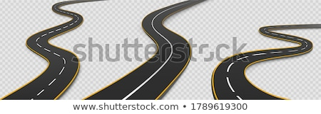 curved winding road direction set Stock photo © SArts
