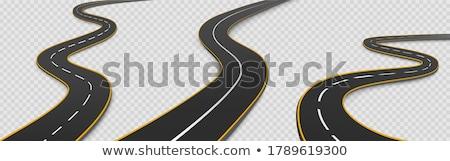 weg · voetafdrukken · ontwerp · zwarte · silhouet · stempel - stockfoto © sarts
