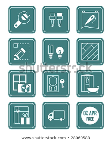 Home repair, remodelling, redecoration icon set Stock photo © nosik