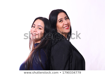 A Senior mother with 40 years old daughter Stock foto © Lopolo