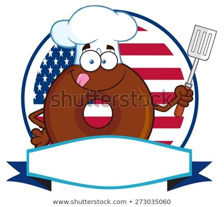 chef · banner · illustratie · cartoon · cute · karakter - stockfoto © hittoon