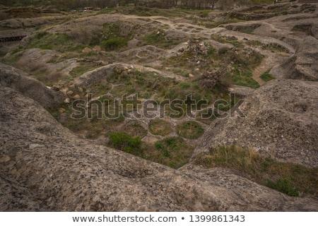 Detay kaya mağara şehir Georgia görmek Stok fotoğraf © boggy