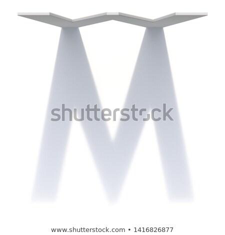 Függőleges csepp árnyék betűtípus m betű 3D Stock fotó © djmilic
