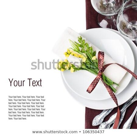 yaz · piknik · şarap · bardakları · sahne · sepet · renk - stok fotoğraf © furmanphoto