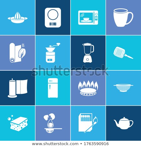Cooking devices, icons set Stock photo © netkov1