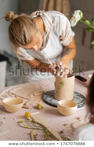 Nuevos arcilla artículo maestro cerámica Foto stock © pressmaster