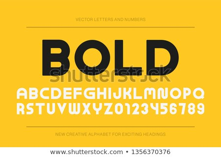 Vektör modern moda İngilizce alfabe Stok fotoğraf © ExpressVectors