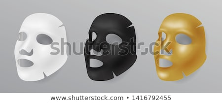 black face mask, cosmetic procedures, rejuvenation, realistic black mask vector illustration isolate Stock photo © MarySan