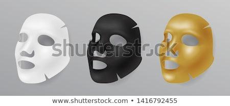 черный лице маске косметических реалистичный Сток-фото © MarySan