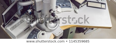 transmission electron microscope in a scientific laboratory BANNER, long format Stock photo © galitskaya