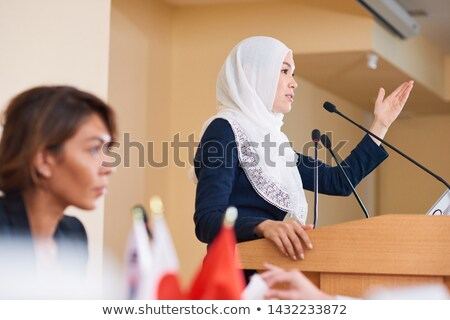 Young contemporary confident female politician in hijab Stock photo © pressmaster