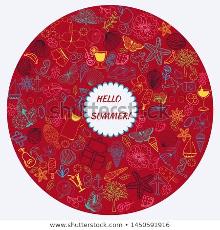 行 芸術 セット 夏 いたずら書き コレクション ストックフォト © Margolana