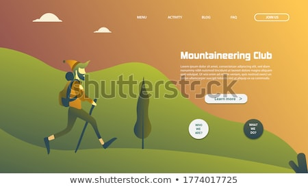 Digitale vector alpinisme technologie iconen Stockfoto © frimufilms