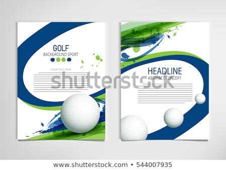 wektora · golf · charakter · projektu · kraju - zdjęcia stock © netkov1