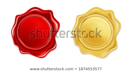 Template Of Golden Metallic Office Stamp Vector Stock photo © pikepicture