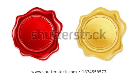 Modelo dourado metálico escritório carimbo vetor Foto stock © pikepicture