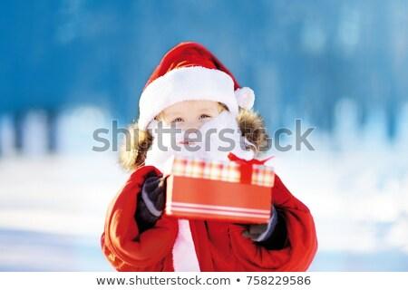 sevimli · çocuk · kostüm · sunmak - stok fotoğraf © nyul