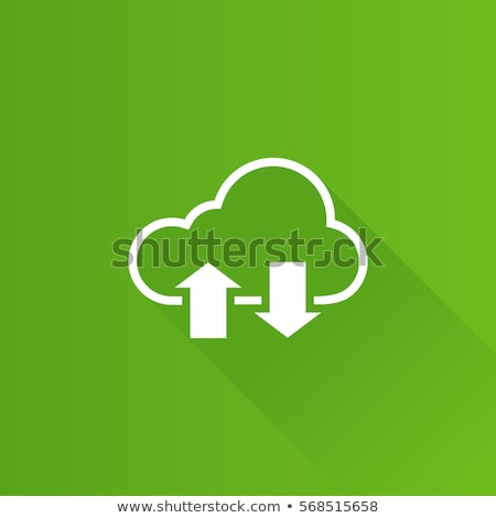 Green Cloud Computing Icon stock photo © kbuntu